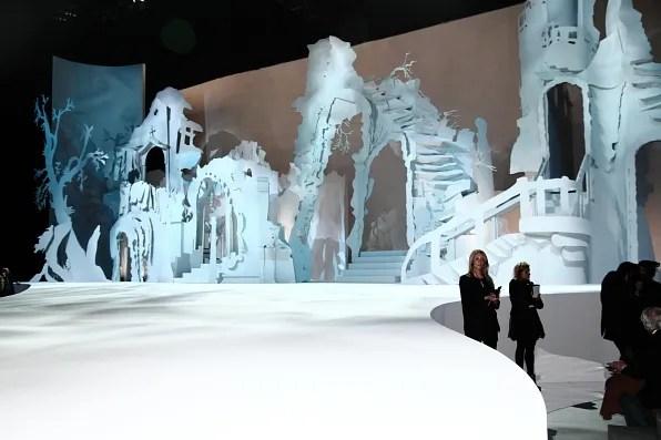 Marc Jacobs stage set designed by artist Rachel Feinstein