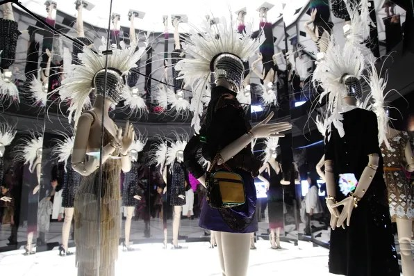 A few looks at the Louis Vuitton Marc Jacobs exhibition