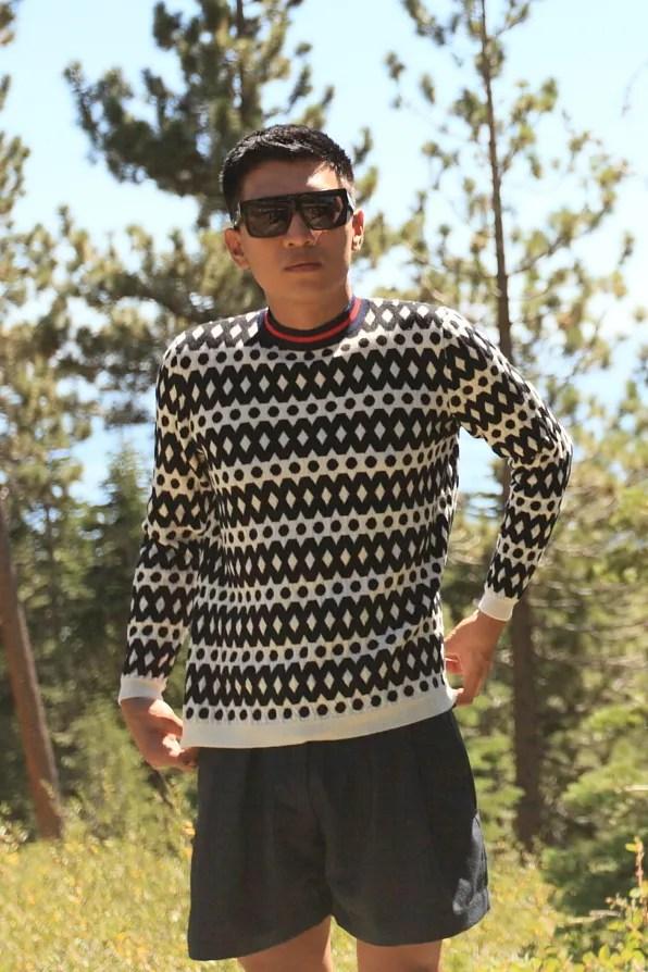 Bryanboy wearing a Marni fall/wall 2012 sweater