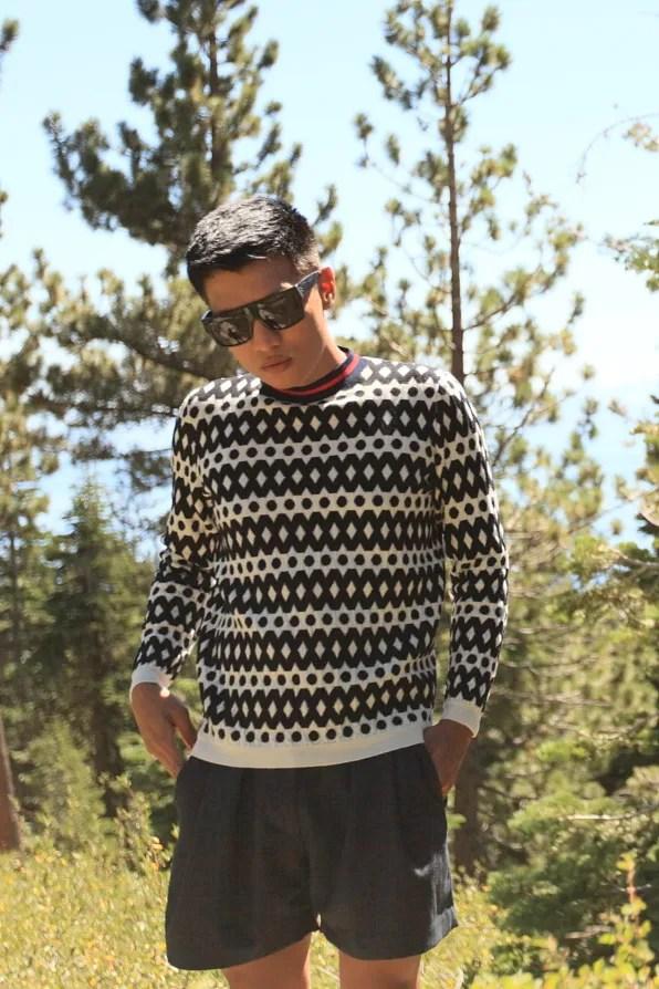 Marni black and white sweater