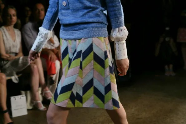 Printed python skirt from Peter Som spring summer 2013 collection