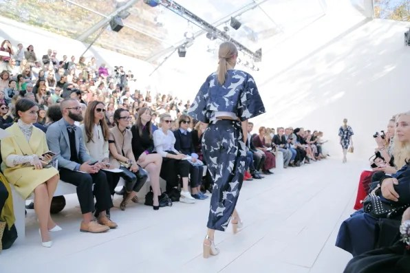 Print of a Chloe top and trousers from spring summer 2013 fashion show
