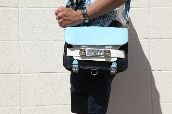 Bryanboy carrying a Proenza Schouler PS11 bag