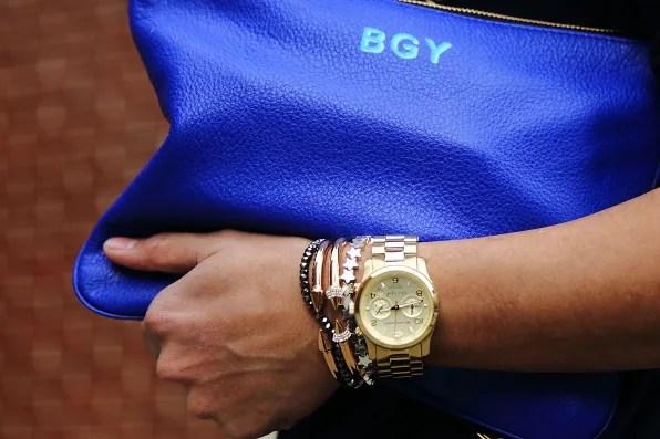 Custom monogrammed Rebecca Minkoff bag