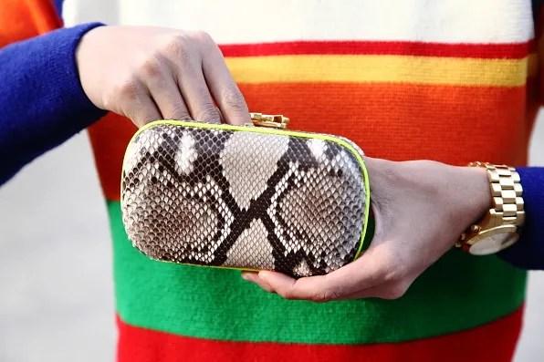 Corto Moltedo snakeskin clutch bag