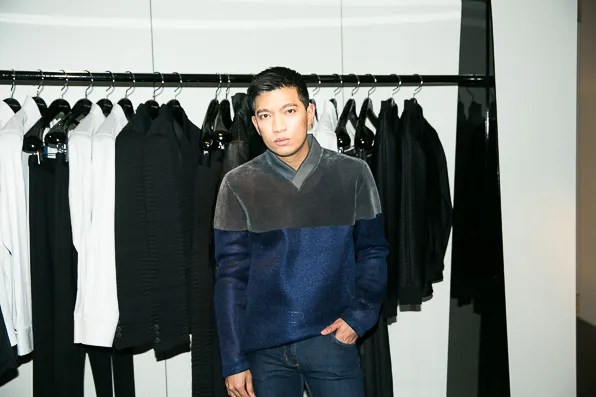 Bryanboy at Emporio Armani flagship boutique on Fifth Avenue