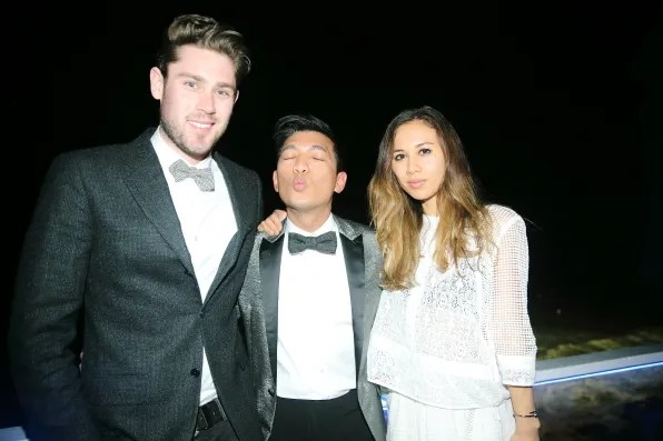 Queenie, Bryanboy and Rumi Neely at Moonshadows, Malibu