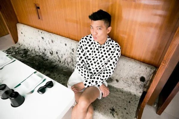 Bryanboy having breakfast at Condesa DF Hotel Mexico City