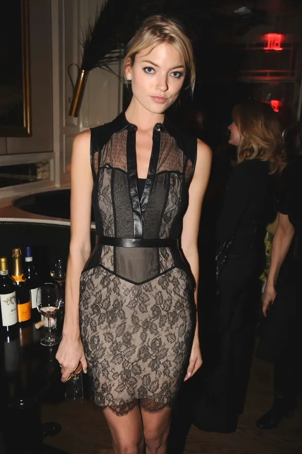 Martha Hunt at Beatrice Inn in Jason Wu