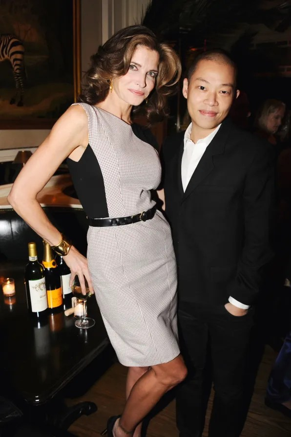 Stephanie Seymour and Jason Wu at Beatrice Inn