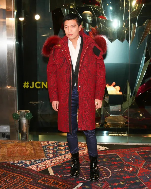 Fashion blogger Bryanboy attends the Just Cavalli NYC Soho store opening