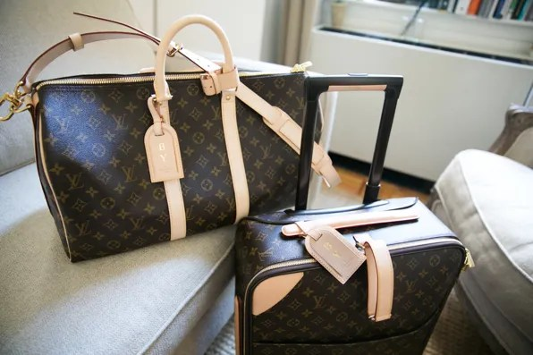 Bryanboy's Louis Vuitton monogram canvas luggage