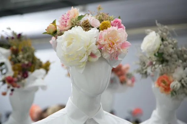 Floral headpieces at Uniqlo Lifewear fall winter 2013