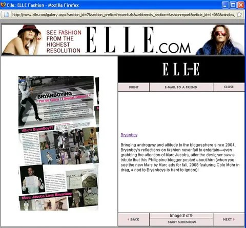 Bryanboy.com @ Elle.com