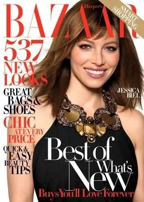 Jessica Biel, Harper's Bazaar USA August 2008 cover