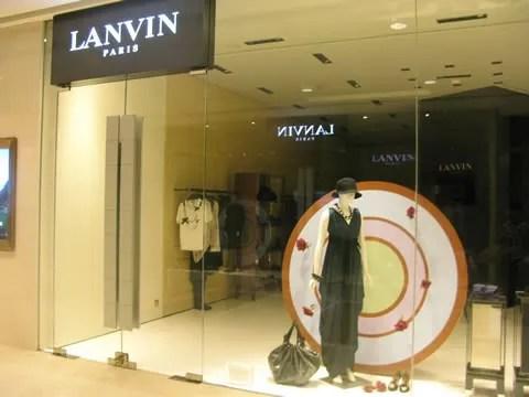 Lanvin store Hong Kong IFC Mall