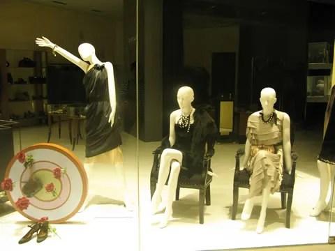 Lanvin dresses at the IFC Mall Hong Kong store
