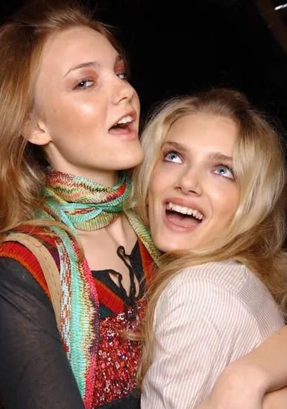 Lily Donaldson with Caroline Trentini