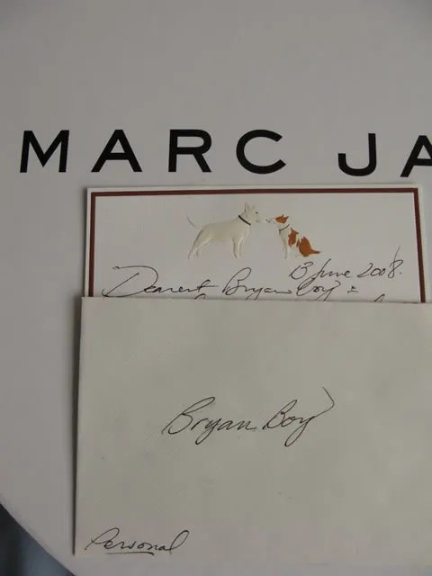 Marc Jacobs notecard