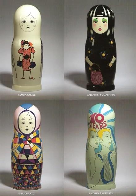 Russian Nesting Dolls - Sonia Rykiel, Valentino, Emilio Pucci, Andrey Bartenev