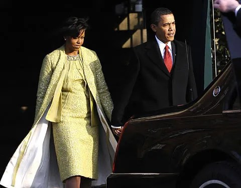 Michelle Obama's Inauguration Day yellow dress by Isabel Toledo photos pic