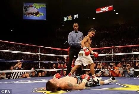 Ricky Hatton vs Manny Pacquiao pics