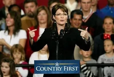 Sarah Palin speaks at Findlay, Ohio