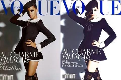 Noémie Lenoir and Laetitia Casta, Vogue Paris, June July 2008