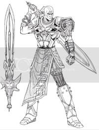 Dibujos Para Colorear De God Of War Sketch Of Ares God