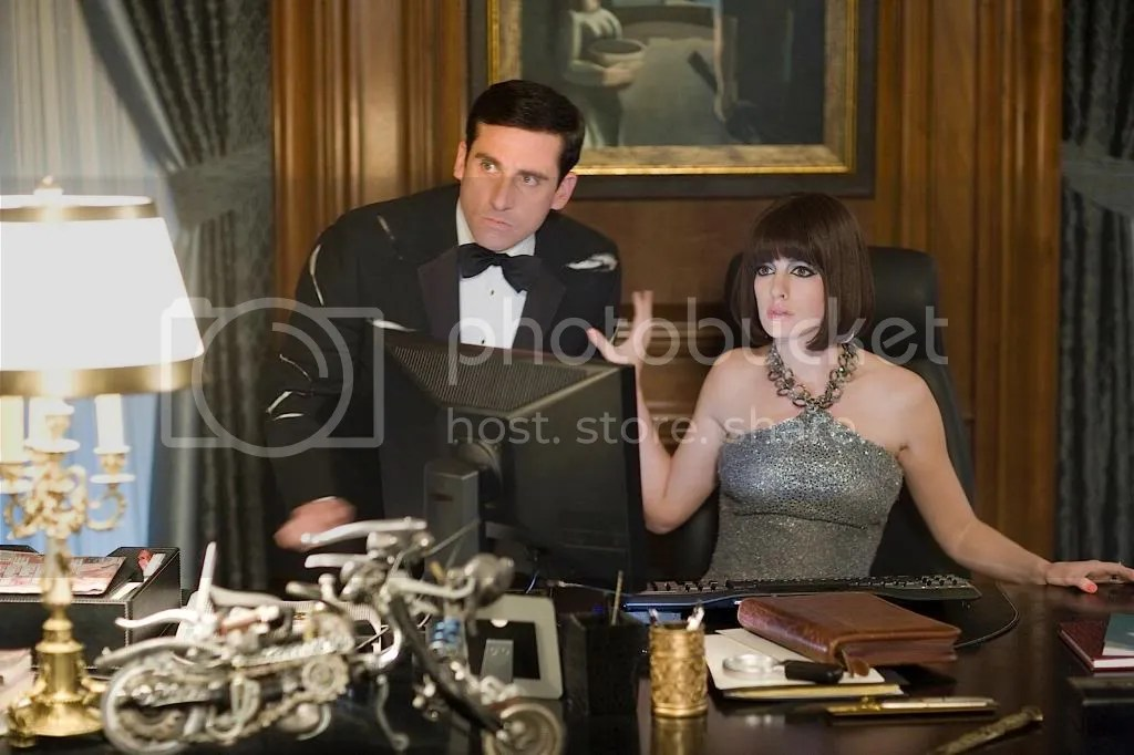 Steve Carell and Anne Hathaway in Get Smart