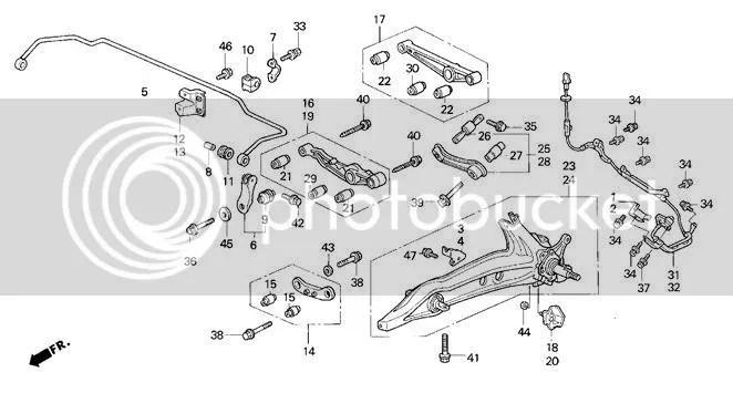 92 Honda accord front suspension diagram