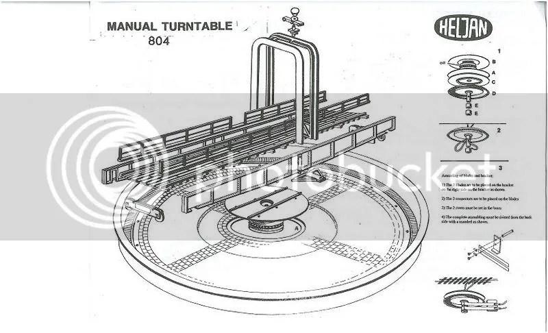 Heljan turntable manual, ho narrow gauge track plans