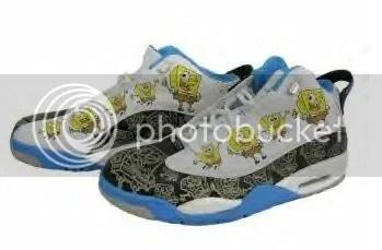online retailer 72302 b6ad2 Air Jordan Dub Zero Spongebob (Sponge Bob) Black - White - Blue