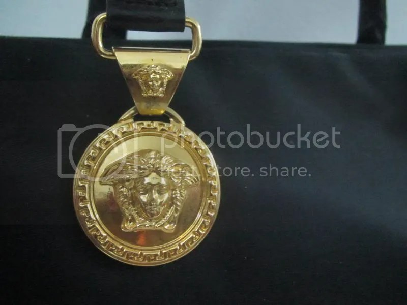 THE BAGBLOGSHOP AUTHENTIC GIANNI VERSACE BLACK HANDBAG