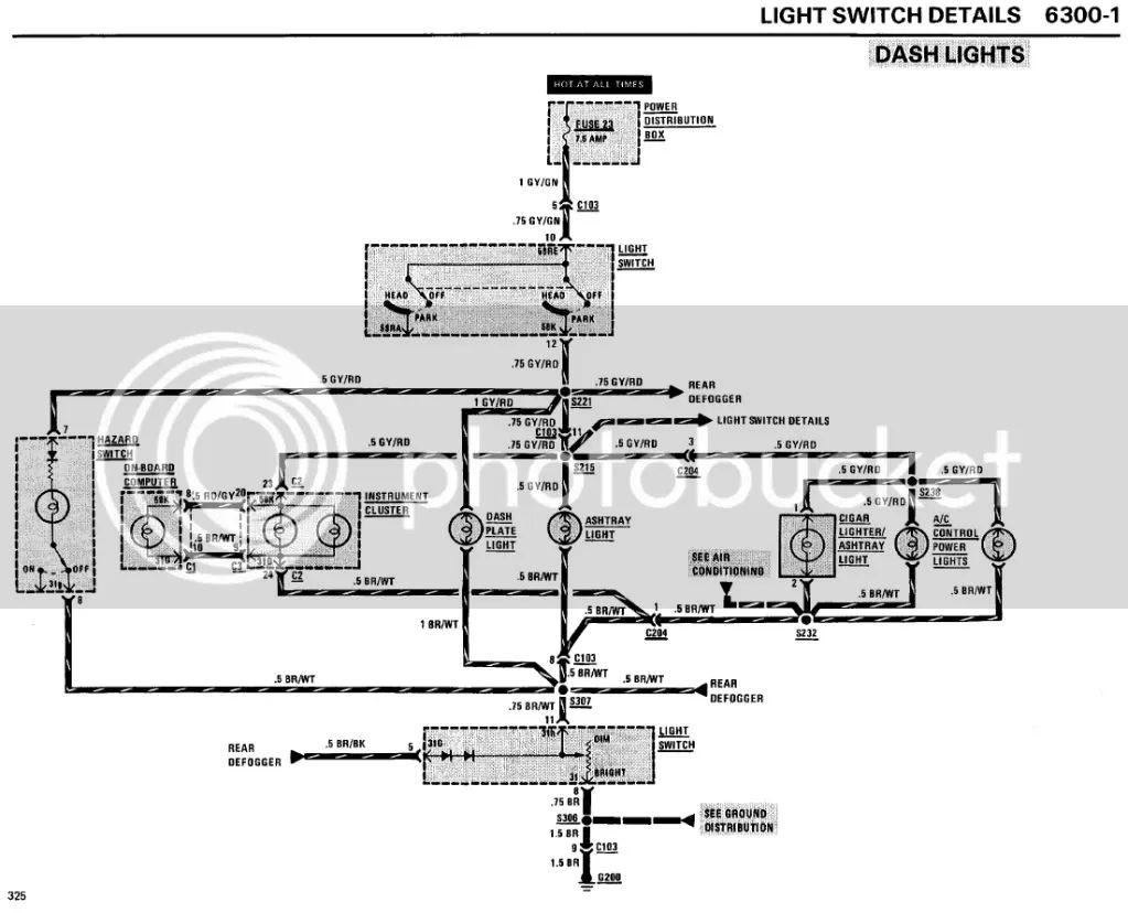 bmw e30 dash diagram