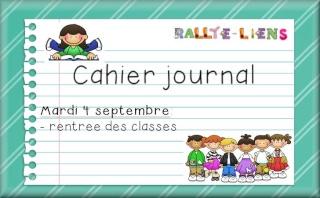 Rallye-lien sur le cahier-journal, proposé par Libellule