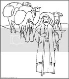 Abraham Obeys God Coloring Pages Coloring Pages