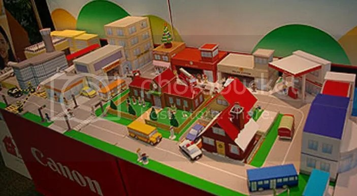 PAPERMAU Mini City Diorama For Kids By Canon Mini Cidade Para