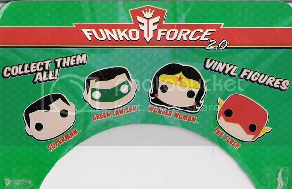 SDCC DC Funko Force 2 Green Lantern card back