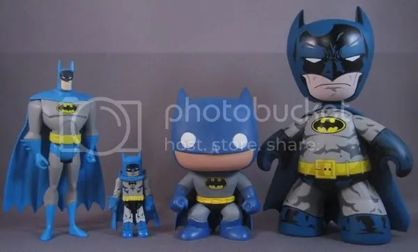 SDCC DC Funko Force 2 Batman Comparison