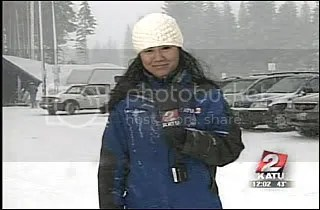 Covering the snow on Mt. Hood