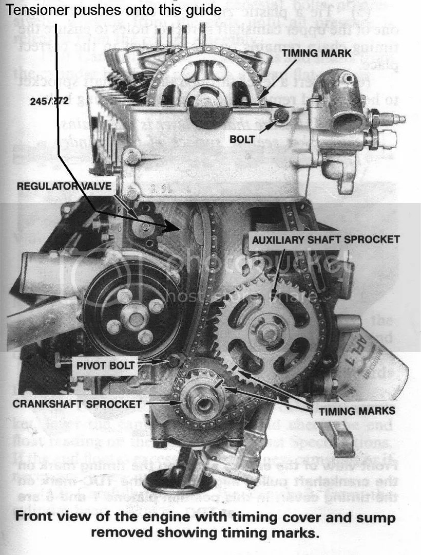 hight resolution of this is a diagram of how the marks should be aligned and yes it is advisable to lower the sump and watch out for the little guide that sits at the bottom