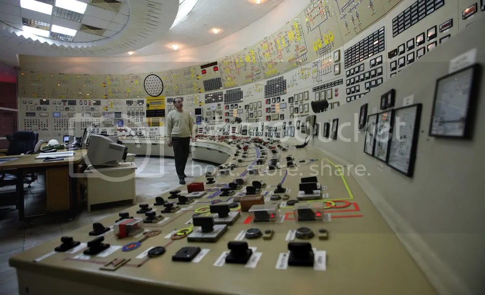 An operator walks in the control room of the closed third unit of the nuclear power plant of Kozlodui north east of the Bulgarian capital Sofia, Friday, Jan. 23, 2009. Bulgarias parliament has approved plans to seek European Union permission to re-launch two old nuclear reactors mothballed when it joined the EU two years ago. The two aging 440-megawatt reactors at the Kozlodui plant were shut down in 2007. The government says Bulgarian businesses lost euro100 million (US$129 million) when Russian natural gas supplies were suspended for nearly two weeks. (AP Photo/Petar Petrov) #
