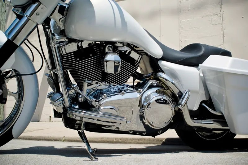 Home Wiring White Color Baggers Chad S Street Glide Bad Dad Custom Bagger