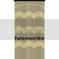 BAMBOO EFFECT CURTAIN BLINDS WOODEN BEADED INSECTS FLY ...