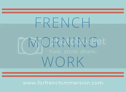 French Morning Work Printable Worksheets