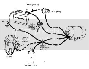 DIY  Tachometer Wiring Diagram