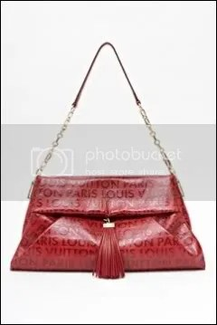 Louis Vuitton Embossed Leather Handbag