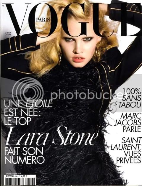 Vogue Paris February 2009: Lara Stone