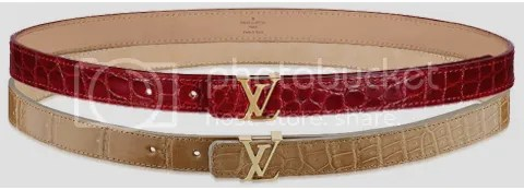 LV Initiales Alligator Leather Belt